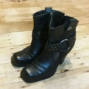 Harley Davidson genuine leather ankle boots